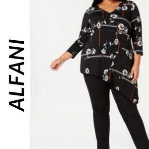 NWT ALFANI Women's Long Sleeve Blouse/ Tunic